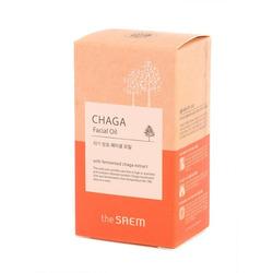 Антивозрастное масло для лица с экстрактом чаги Chaga Facial Oil The Saem. Вид 2