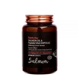Многофункциональная ампульная сыворотка с маслом лосося и пептидами All-In-One FarmStay. Вид 2
