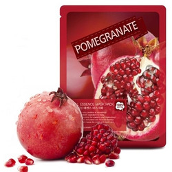Тканевая маска с гранатом Real Essence Pomegranate Mask Pack May Island. Вид 2