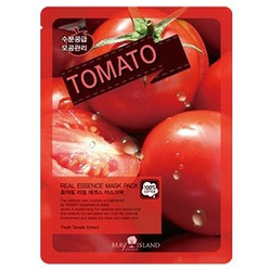 Тканевая маска для лица с экстрактом томата Real Essence Tomato Mask Pack May Island. Вид 2
