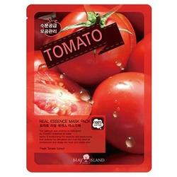 Тканевая маска для лица с экстрактом томата Real Essence Tomato Mask Pack May Island. Вид 2