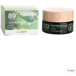 Увлажняющий успокаивающий крем для лица с алоэ Jeju Fresh Aloe Cream The Saem. Вид 2