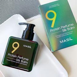 Несмываемый парфюмированный бальзам для волос с протеинами Protein Perfume Silk Balm Masil. Вид 2