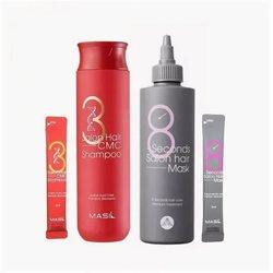 Набор для восстановления волос с кератином и коллагеном 38 Salon Hair Set Masil. Вид 2