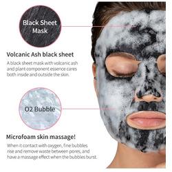 Кислородная маска с вулканической глиной Detoxifying Black O2 Bubble Mask Volcano Eyenlip. Вид 2