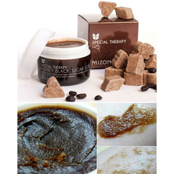 Скраб для лица с черным сахаром Honey Black Sugar Scrub Mizon. Вид 2