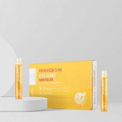 Витаминизирующий филлер для волос с витаминами DERMA СUBE Vita Clinic Hair Filler FarmStay. Вид 2