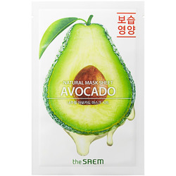 Тканевая маска с экстрактом авокадо Natural Avocado Mask Sheet The Saem. Вид 2