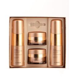 Набор антивозрастных средств премиум-класса с улиточным экстрактом Snail Essential Ex Wrinkle Solution Skin Care 3 Set The Saem. Вид 2