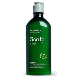 Бессиликоновый укрепляющий кондиционер с розмарином Rosemary Hair Thickening Conditioner Aromatica. Вид 2