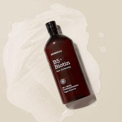 Бессульфатный укрепляющий шампунь с биотином B5 + Biotin Fortifying Shampoo Aromatica. Вид 2