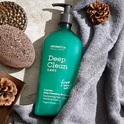 Бессульфатный шампунь для глубокого очищения с кипарисом Cypress Deep Cleansing Shampoo Aromatica. Вид 2