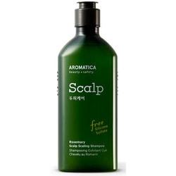 Бессульфатный укрепляющий шампунь с розмарином Rosemary Scalp Scaling Shampoo Aromatica. Вид 2