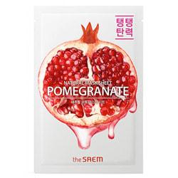 Тканевая маска для лица с экстрактом граната Natural Pomegranate Mask Sheet The Saem. Вид 2