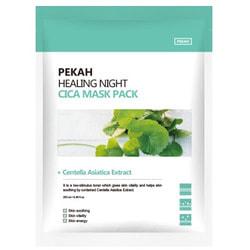 Вечерняя восстанавливающая маска с экстрактом центеллы азиатской Healing Night Cica Mask Pack Pekah. Вид 2