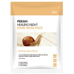 Вечерняя восстанавливающая маска с муцином улитки Healing Night Snail Mask Pack Pekah. Вид 2