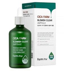 Высокоактивная ампульная эссенция с центеллой азиатской против несовершенств кожи Cica Farm Blemish Clear Ampoule FarmStay. Вид 2