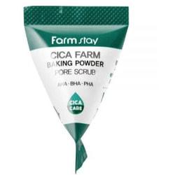 Скраб в пирамидках для очищения пор с центеллой азиатской Cica Farm Baking Powder Pore Scrub FarmStay. Вид 2
