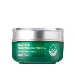 Восстанавливающий крем для лица с центеллой азиатской Cica Farm Regenerating Solution Cream FarmStay. Вид 2
