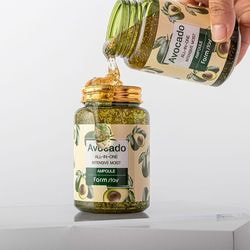Многофункциональная ампульная сыворотка с экстрактом авокадо Avocado All-In-One Intensive Moist Ampoule FarmStay. Вид 2