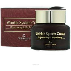 Антивозрастной питательный крем для лица с коллагеном Wrinkle System Cream The Skin House. Вид 2