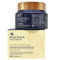 Омолаживающий крем для лица с плацентой Bonibelle Placenta Intense Solution Cream Enough. Вид 2