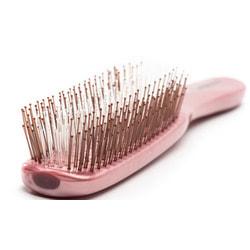 Расческа Majestic Pastel Pink для ослабленных волос и чувствительной кожи головы. Вид 2