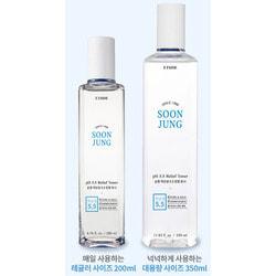 Тонер слабокислотный успокаивающий для лица Soon Jung Relief Toner Etude. Вид 2