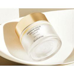 Антивозрастной крем для лица с коллагеном и золотом Premium Gold Collagen Cream Elishacoy. Вид 2