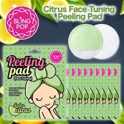 Пады очищающие с пилинг эффектом двухсторонние Citrus Face Tuning Peeling Pad Bling Pop. Вид 2