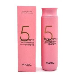 Шампунь для защиты цвета 5 Probiotics Color Radiance Shampoo Masil. Вид 2