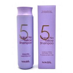 Тонирующий шампунь для осветленных волос 5 Salon No Yellow Shampoo Masil. Вид 2