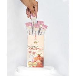 Коллаген в желе с гранатом в стиках Jinskin K-Beauty Collagen Pomegranate. Вид 2