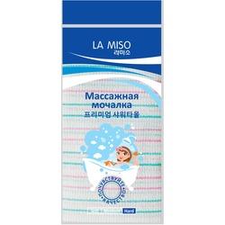 Корейская массажная мочалка жесткая La Miso. Вид 2