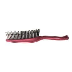 Японская массажная расческа S Heart S Scalp Brush Univiala 572 зубчика цвета рубин. Вид 2