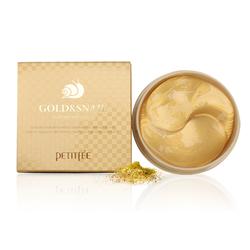 Гидрогелевые патчи для глаз с золотом и муцином улитки Gold and Snail Hydrogel Eye Patch Petitfee. Вид 2