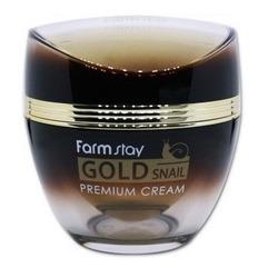Премиальный крем с золотом и муцином улитки FarmStay. Вид 2