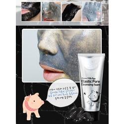 Чёрная пенка-маска для очищения пор на лице Milky Piggy Elastic Pore Cleansing Foam Elizavecca. Вид 2