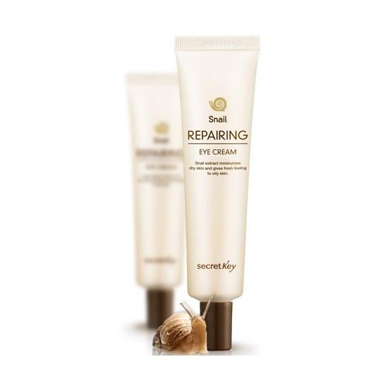 Восстанавливающий крем для кожи вокруг глаз с экстрактом улитки Snail Repairing Eye Cream Secret Key