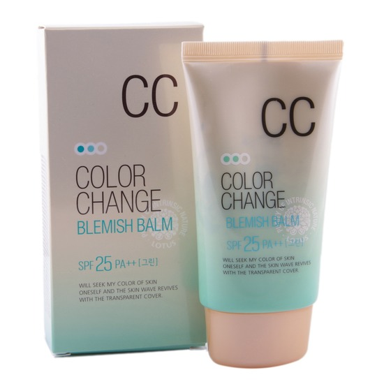 СС крем Lotus Color Change Blemish Balm SPF 25 PA++ Welcos