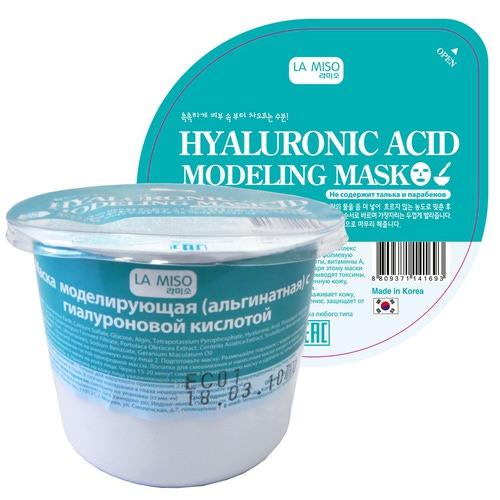 Моделирующая маска с гиалуроновой кислотой альгинатная La Miso