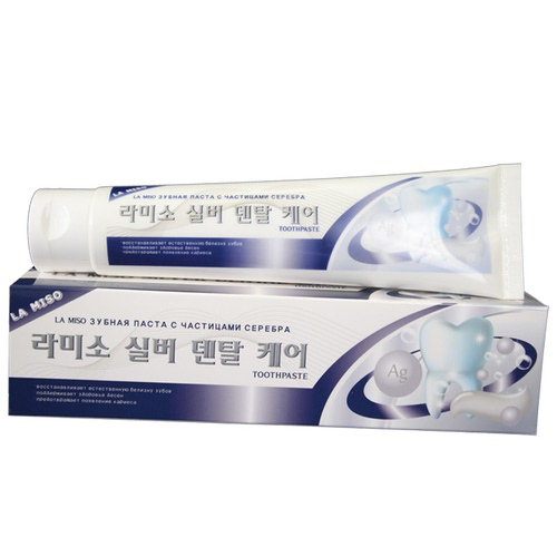La Miso (Корея) Зубная паста с частичками серебра