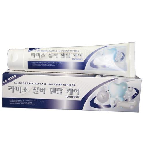 Зубная паста с частичками серебра La Miso