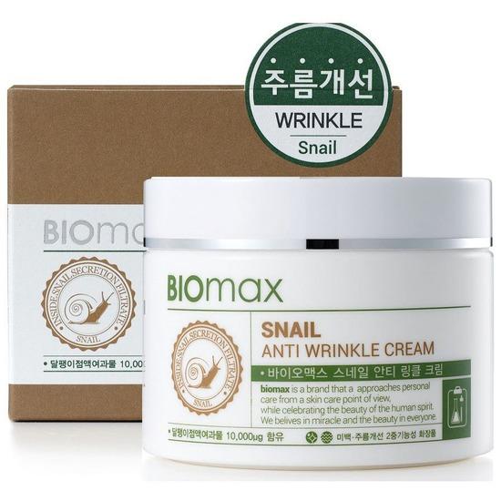 Антивозрастной крем с экстрактом слизи улитки против морщин BIOmax