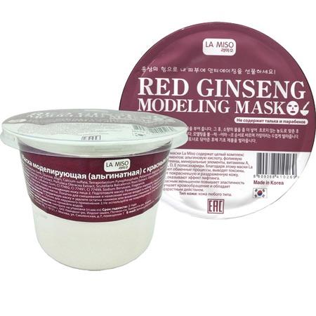 Моделирующая маска с красным женьшенем альгинатная La Miso (Корея)