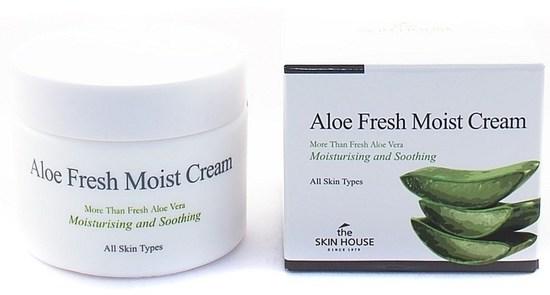 Увлажняющий крем для лица с экстрактом алоэ Aloe Fresh Moist Cream The Skin House (фото)