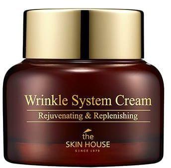 Антивозрастной питательный крем для лица с коллагеном Wrinkle System Cream The Skin House (фото, питательный крем с коллагеном The Skin House)