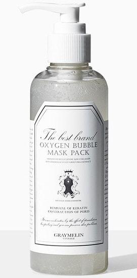 Кислородная маска для лица Oxygen Bubble Mask Pack Graymelin