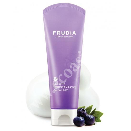 Увлажняющая гель-пенка для умывания с черникой Frudia (Корея)