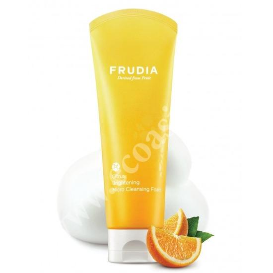 Микропенка для умывания с цитрусом придающая сияние коже Frudia